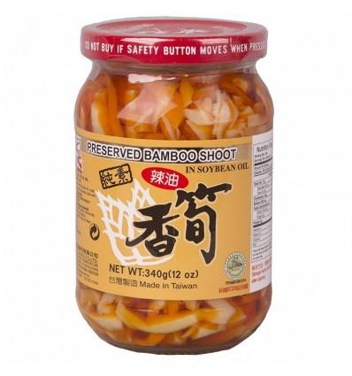台湾状元牌辣油香笋 340g